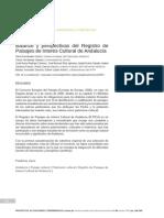 Balance y perspectivas del Registro de Paisajes de Interés Cultural de Andalucía