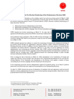 Final Report on the Pre-Election Monitoring of the Parliamentary Elections 2008
