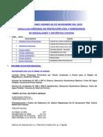 Informe Diario Onemi Magallanes 06.11.2015