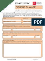 Course Change Request - Document