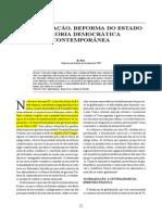 DINIZ Globalização Reforma Do Estado e Teoria Conteporanea
