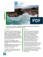 Assessment of climate variability and change impacts and evaluation of response options - Croatia