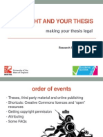 Copyright and Your Thesis