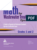 John Giorgi-Math for Wastewater Treatment Operators Grades 1 & 2_ Practice Problems to Prepare for Wastewater Treatment Operator Certification Exams-American Waterworks Association (2009)
