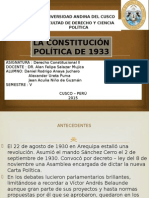 Constitucion Politica Del Perú (1933)