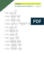 Ficha Simplificacion Fracciones Algebraicas