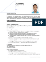 Resume of Mr. Armando U. Gutierrez