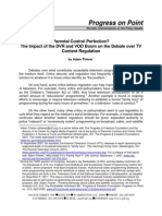 Parental Control Perfection - Impact of DVRs and VOD on Content Regulation (Thierer-PFF)