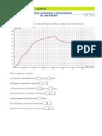 Ficha Crecimiento y Decrecimiento de Funciones