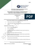 Soalan Percubaan SBP - Matematik SPM 2015
