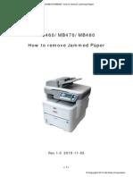 OKI MB460-MB470-MB480 Jammed Paper