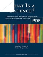 Neuwirth - What is a Cadence - Theoretical and Analytical Perspectives