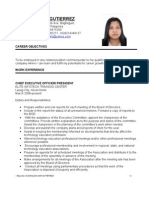 Resume of Ms. Jonaliza Dar-Gutierrez