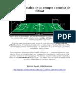 Medidas Oficiales de Un Campo o Cancha de Fútbol