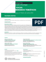 cartaz ciclo de seminariostematicos pedagogia social