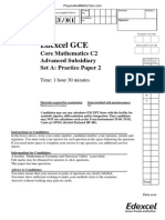 Practice Paper A2 QP - C2 Edexcel