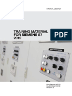 Training Material for Siemens S7 2012