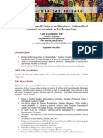 2da Circular - Congreso Internacional El Caribe en sus Literaturas y Culturas.