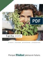 Catálogo y Precios Vaillant 2015