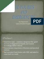 Ocular Injuries and Emergencies