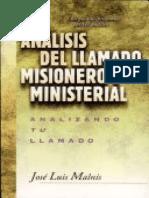 Análisis Del Llamado Misionero y Ministerial - José Luis Malnis