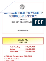 Presentation of 2010-11 Woodbridge School Budget
