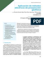 Aplicación de métodos  eléctricos a la Prospeccion Geofisica