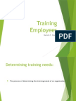 Training Employees...