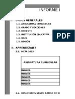 Informe Pedagogico Ingles modelo