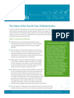 The Value of the Fourth Year of Mathematics