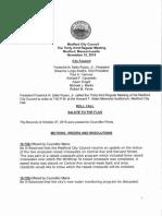 Medford City Council agenda November 10, 2015