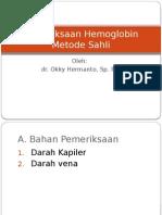 Pemeriksaan Hemoglobin