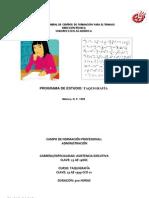 Programa de Estudio Taquigrafía