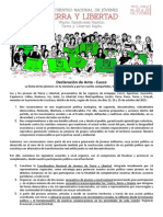 Declaración de Anta - II Encuentro de Jóvenes TyL (1)