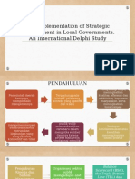 The Implementation of Strategic Management in Local Governments
