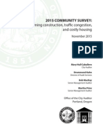 2015 Community Survey Report - Portland
