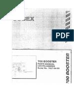 Manual Operación, Mantenimiento y Repuestos Booster Cubex 700