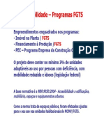 Resumo Unidades Adaptaveis FGTS