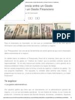 Cuál Es La Diferencia Entre Un Gasto Administrativo y Un Gasto Financiero _ FundaPymes