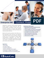 AudioCodes Mediant Enterprise SBC Family Brochure