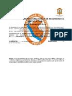 Certificado de Inspección Técnica de Seguridad en Defensa Civil