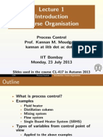 Process Control lecture - 1