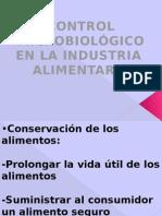 Control Microb.en La Ind.aliment.