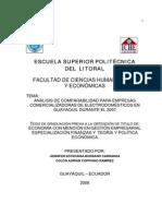 Análisis de Comparabilidad Para Empresas Comercializadoras de Electrodomésticos en Guayaquil
