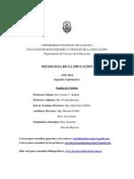 Sociología de La Educación 2014 UNLP