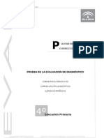 Prueba evaluación diagnóstica competencia lingüística_Andalucía 2009_4º EPO