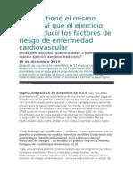 El Yoga Tiene El Mismo Potencial Que El Ejercicio Para Reducir Los Factores de Riesgo de Enfermedad Cardiovascular