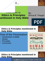 Ethics & Principles Mentioned in Holy Bible