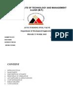 automatic fuel valve