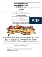 feed the families flyer